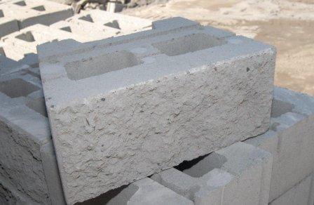 how to cut a big concrete block